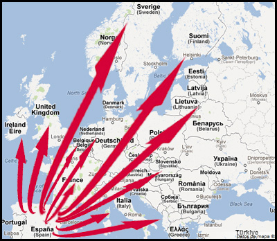 ATODA αποστολής jamon Ευρώπη σε απευθείας σύνδεση