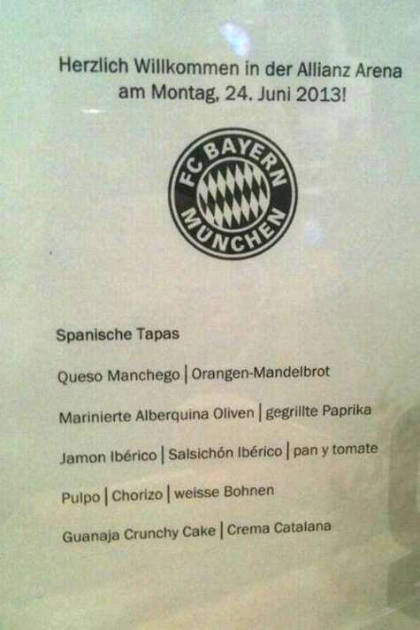 menu pep guardiola bayer munich barcelona