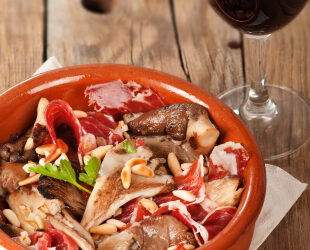 Uma receita de cogumelos com presunto, Tapita verão!!!