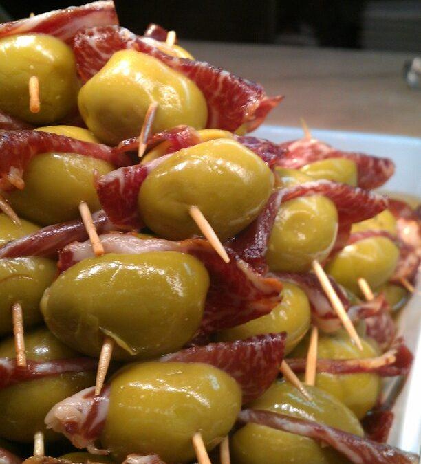 Sommige olijven ham voorgerecht… buenisimas!!!