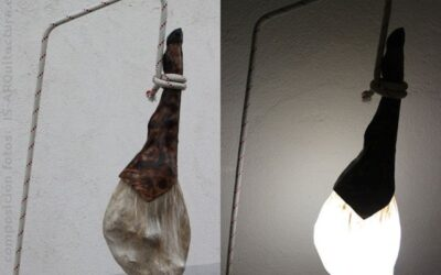 Lámpara de jamón ibérico, luz sabrosa!!!
