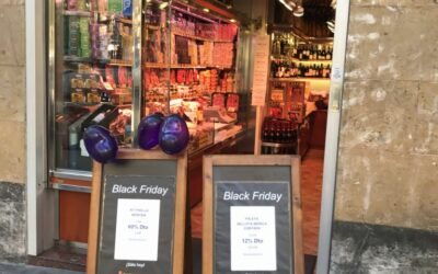 Zwarte vrijdag onze eerste winkel in Barcelona