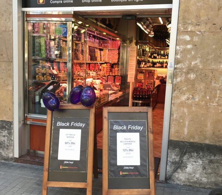 Nuestro primer Black friday en la tienda en Barcelona