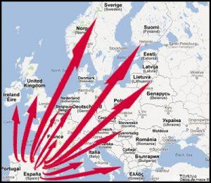 Wy ship troch hiel Europa!