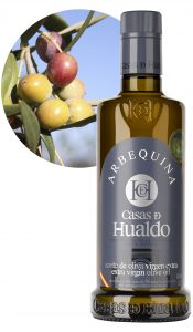 "See different olive oils ""Hualdo houses"""